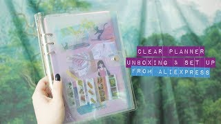 Clear PVC Planner Unboxing and Almost Set Up