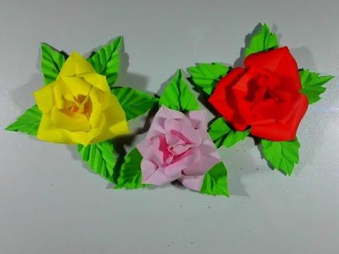 ดอกไม้กระดาษ สำหรับแต่งบอร์ด  DIY crafts - PAPER FLOWERS