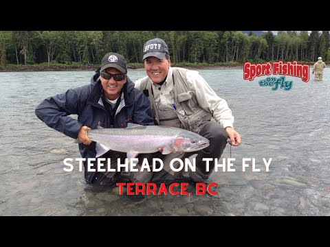 How To Fly Fish For Steelhead On The Skeena River Near Terrace, BC