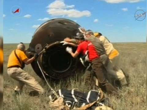 Intl. Space Station Crew Lands in Kazakhstan