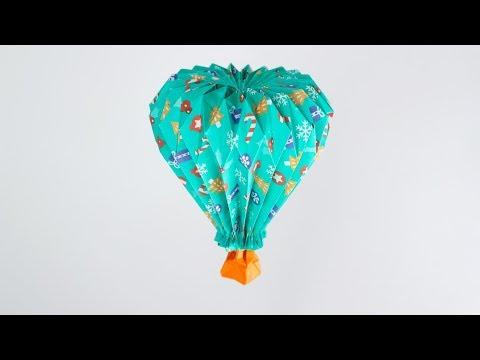 열기구 접기/열기구 만들기/origami hot air balloon/종이접기/origami/색종이접기(Yuri & Katrin Shumakov)