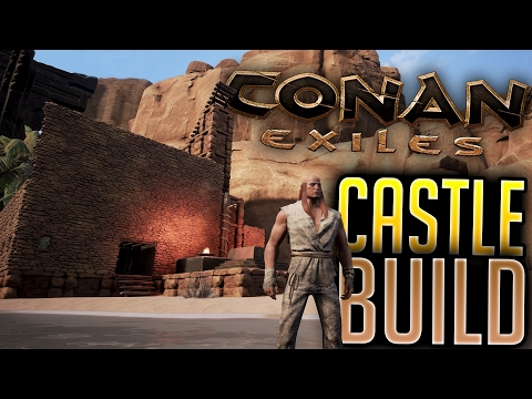 Conan Exiles - Building A Huge Mountain Castle! - Conan Exiles Gameplay # 3