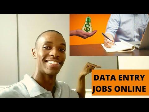 Data entry jobs 2021- make money online in South Africa & worldwide