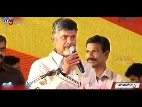 State bifurcation is objectionable | Chandra Babu at Anantapur : TV5 News