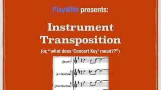 instrument transposition and concert key