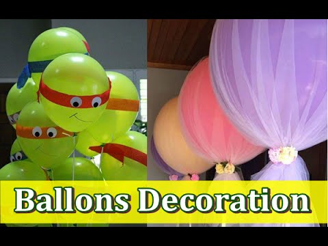 How To Decorate Balloons For Birthday Party At Home Youtube