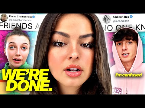 Addison Rae SPEAKS OUT About Bryce Hall, Noah & Jaden CANCELLED After THIS?!, Emma & James REUNITED