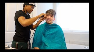 GETTING MY HAIRCUT BY OG JAZZ FROM JAZZ & TAE!!!!