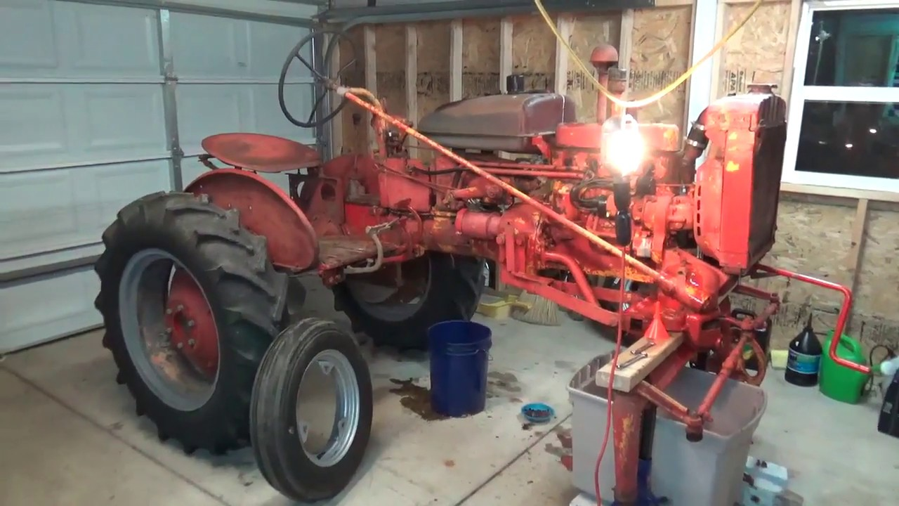 small resolution of 1955 international 100 farmall steering box and touch control system