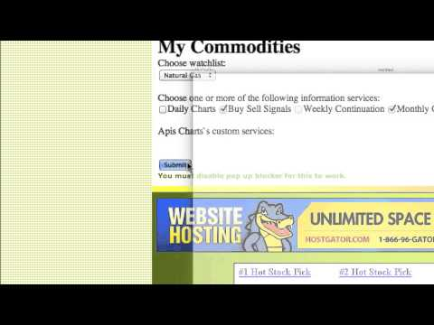 futures trading charts commodity watch list