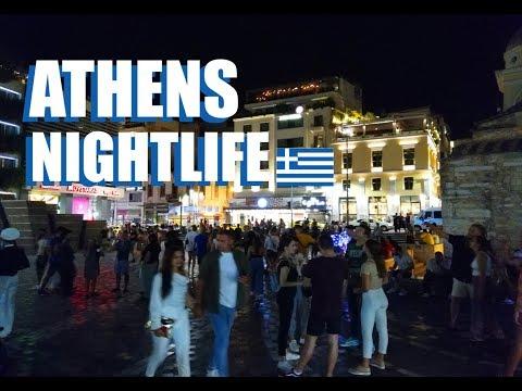 Athens Nightlife Around Monastiraki Square: A Night Walk