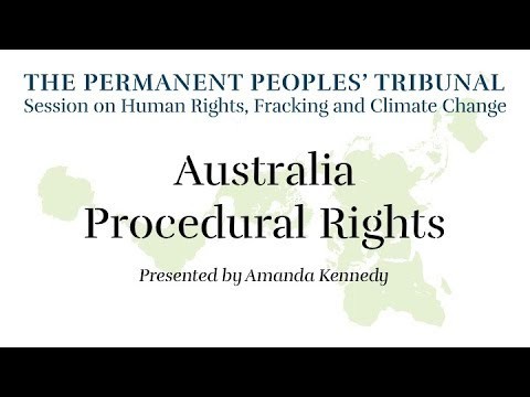 Australia Procedural Rights: Permanent Peoples' Tribunal