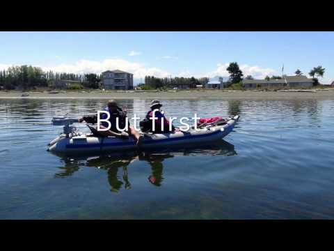 Dungeness Washington then Seattle Waterfront in a Sea Eagle Paddleski