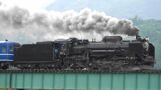 陸羽東線 D51 498 SL・DL東北DC陸羽東線号(蒸気機関車)試運転(2・3日目)通過映像 Steam locomotive test run