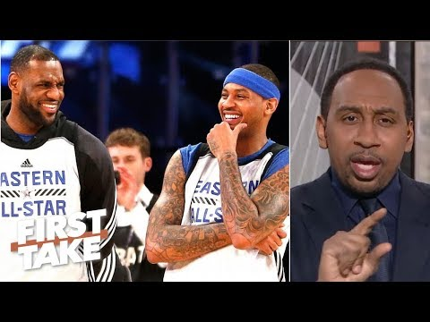 LeBron James frustrated with Carmelo being 'scapegoated' in Houston - Stephen A. | First Take