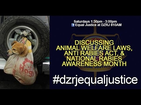 Animal welfare laws, anti rabies act, and national rabies awareness month