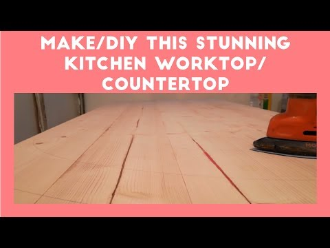 DIY/How to make stunning & simple kitchen countertop/worktop, A-Z