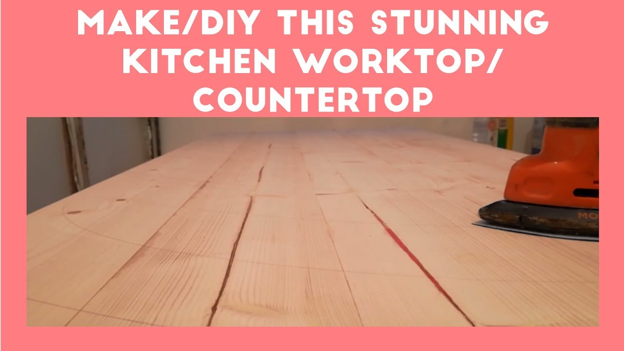 diy how to make stunning simple kitchen countertop worktop a z youtube. Black Bedroom Furniture Sets. Home Design Ideas