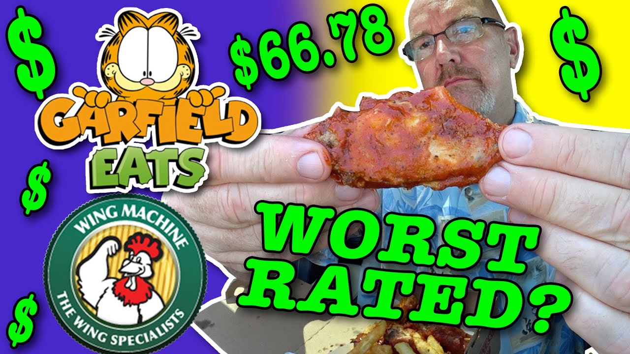 Worst Rated Restaurants In My City 24 Hour Challenge Garfield Eats Wing Machine Youtube