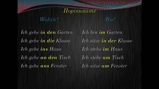 Німецька мова українською. Урок 27 wo?, stehen, hängen, sitzen