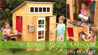 "Kidkraft Modern Outdoor ""wooden"" Playhouse"