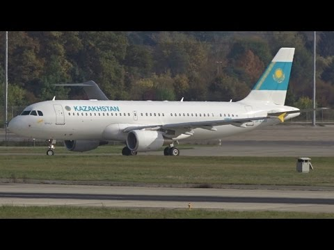 [FullHD] Kazakhstan Government Airbus A320CJ Prestige takeoff at Geneva/GVA/LSGG