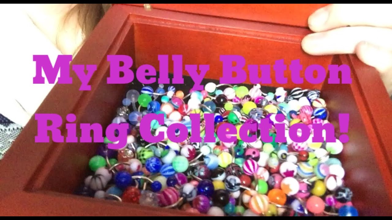My Belly Button Ring Collection! - YouTube