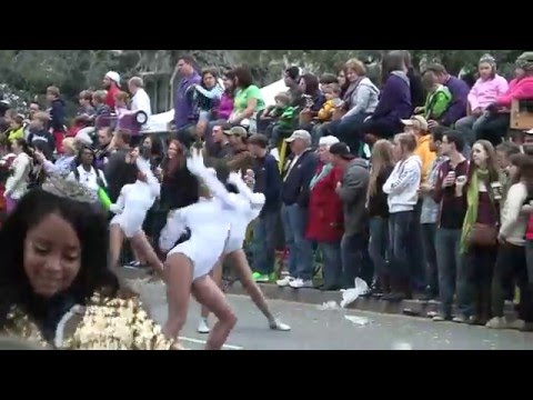 Mardi Gras Dancing Girls New Orleans 2013 Endymion Parade