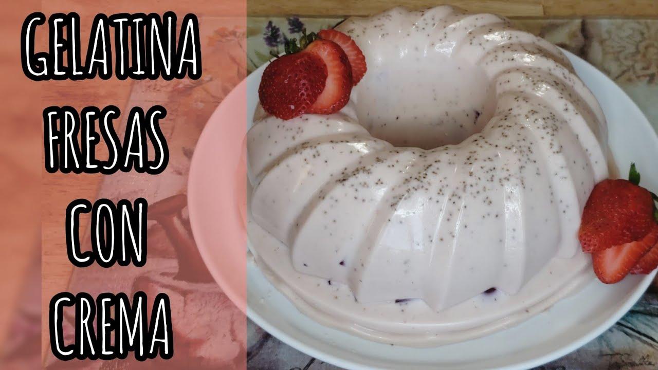 Gelatina De Fresas con Crema
