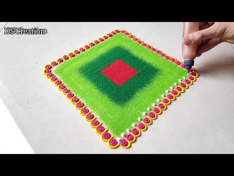 3 Beautiful rangoli design for festivals/Diwali/Dhanteras/dussehra/navratri/Rangoli/Satisfying video