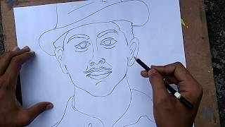 LEARN HOW TO DRAW BHAGAT SINGH
