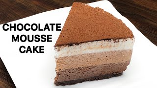 Chocolate Mousse Cake Recipe | No Bake Cake Recipe | Chocolate Dessert Recipe | Chocolate Mousse