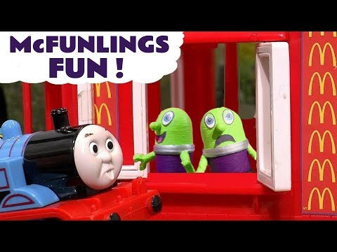 Funny Funlings McDonalds Drive Thru Fun with Thomas and Friends Toy Trains for kids TT4U