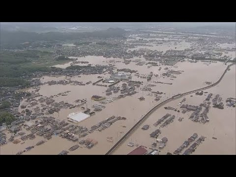 Thousands still without power after deadly flooding hits Japan