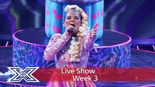 Saara Aalto belts out Bjork's Oh So Quiet |  | Live Shows Week 3 | The X Factor UK 2016