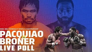 Manny Pacquiao vs Adrien Broner Live Poll (Final)