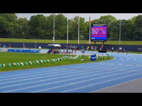 4×1 relay Novas girls 9-10, Icahn Stadium.