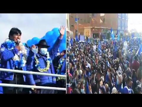 Así Evo Morales en Puente Vela El Alto con candidatos Zacarias Maquera y Franklin Flores | Bolivia