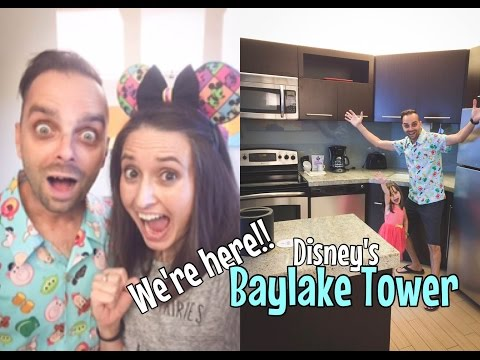 We're HERE!! A huge SHOCKER checking in at Disney's Baylake Tower Sept 2016