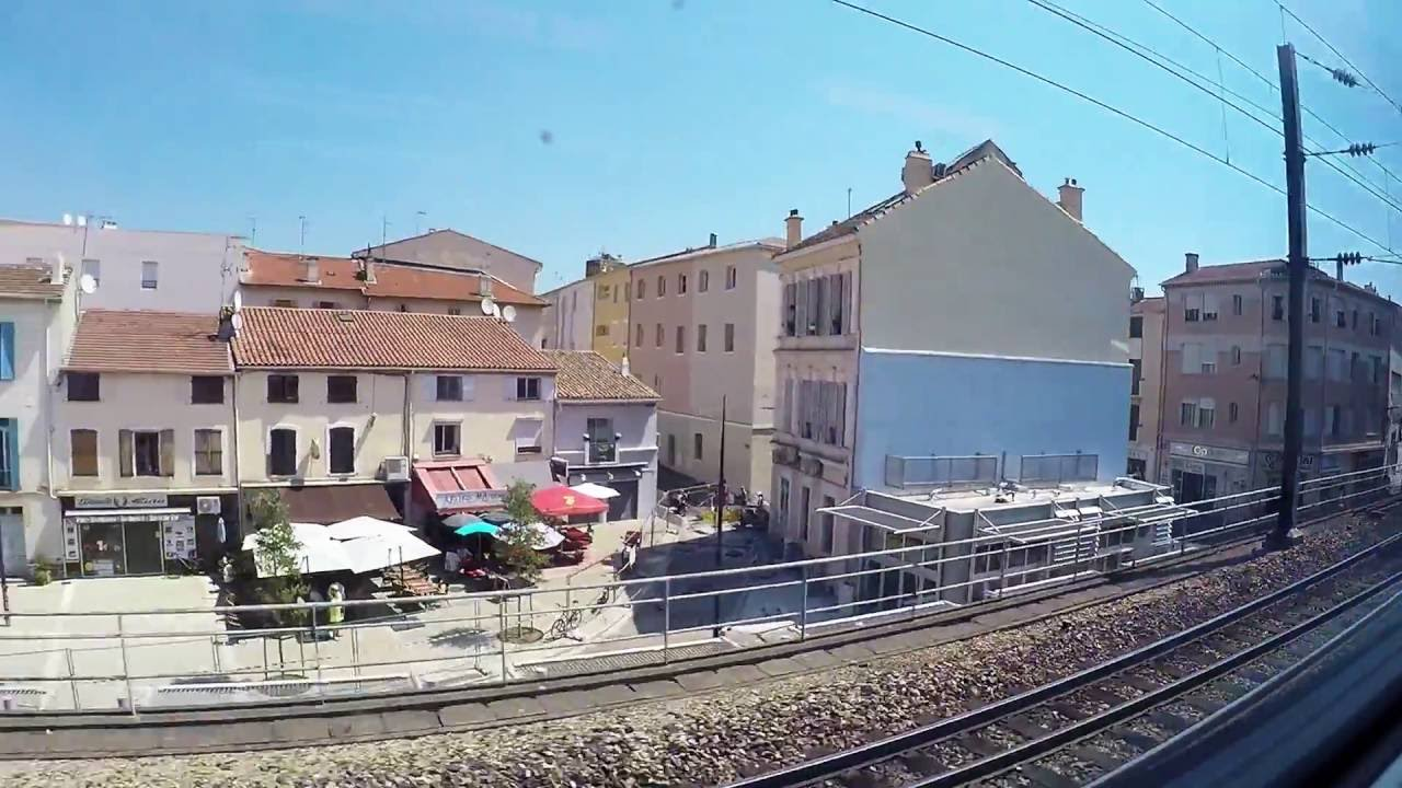 Antibes To Toulon Sncf Tgv Trip From Antibes To Toulon Inland Side View July 2016