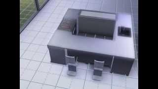 Astuce , ilot central pour petite ou grande cuisine Sims 3