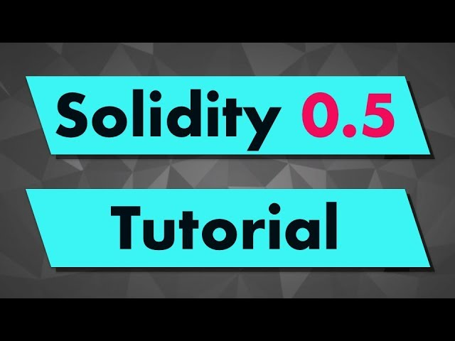 Solidity Tutorial: Introduction
