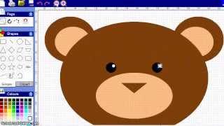 Digital drawing tutorial, how to draw a teddy bear
