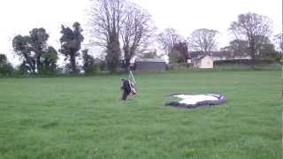 Para Glider Pilot Lifts off from field in Ireland