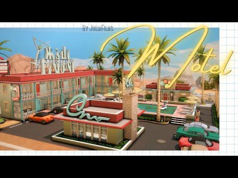 Мотель│Строительство│Motel│SpeedBuild│NO CC [The Sims 4]