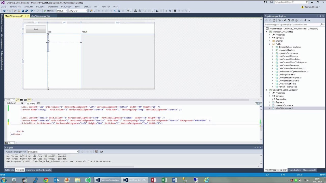 GridSplitter in WPF XAML