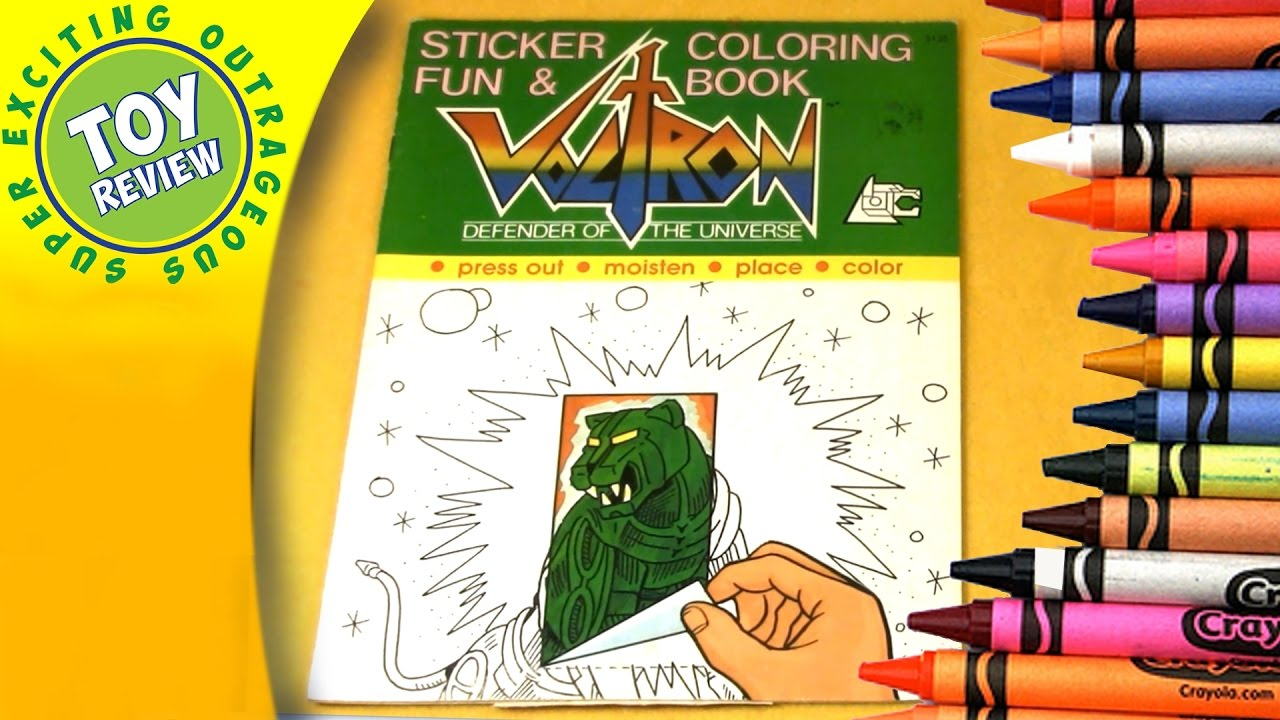 Voltron: Defender of the Universe Sticker & Fun - Vintage Coloring Book  Review - SEO Toy Review