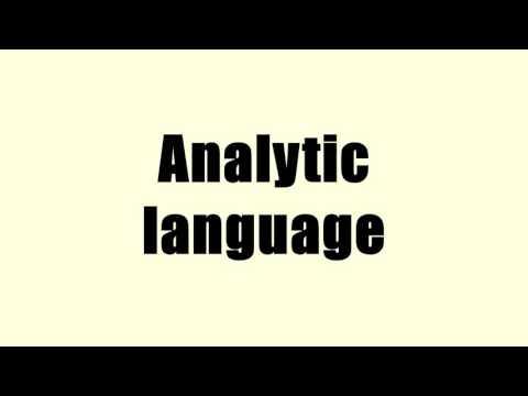 Analytic language
