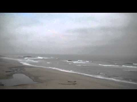 Ocean waves surf relaxing beach video 1 hour + Lincoln City Oregon