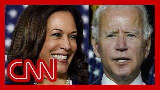 Biden, Harris take aim at Trump in first campaign event